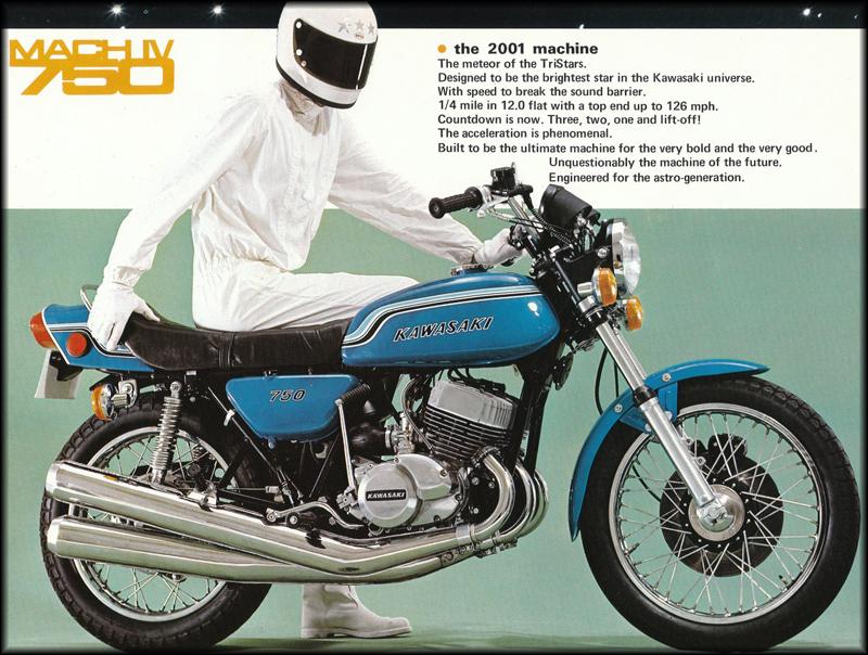 moto kawasaki 750 h2 1972